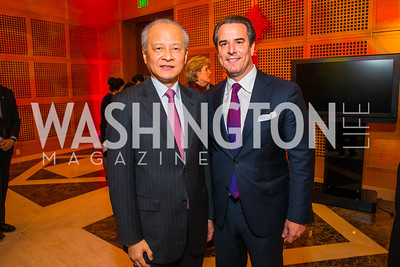 Ambassador Stuart Holliday, Chinese Ambassador to the United States Cui Tiankai. Photo by Alfredo Flores. Chinese Lunar New Year Celebration. Embassy of the People's Republic of China. February 2, 2017