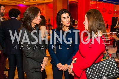 Heather Florance, Tracy Bernstein, Christina Gungoll Lepore, . Photo by Alfredo Flores. Chinese Lunar New Year Celebration. Embassy of the People's Republic of China. February 2, 2017