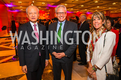 Chinese Ambassador to the United States Cui Tiankai, Gary Knell, Kim Larson. Photo by Alfredo Flores. Chinese Lunar New Year Celebration. Embassy of the People's Republic of China. February 2, 2017
