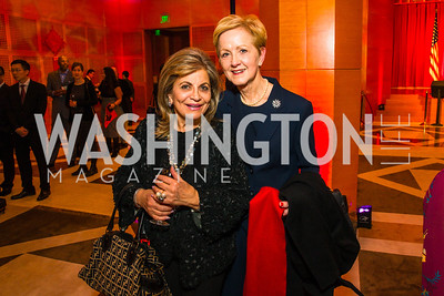 Annie Totah, Ann Stock. Photo by Alfredo Flores. Chinese Lunar New Year Celebration. Embassy of the People's Republic of China. February 2, 2017