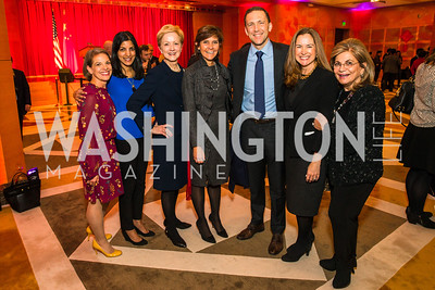 Amy Selco, Parita Shah-Selfridge, Ann Stock, Capricia Marshall, Pete Selfridge, Lee Satterfield, Annie Totah. Photo by Alfredo Flores. Chinese Lunar New Year Celebration. Embassy of the People's Republic of China. February 2, 2017