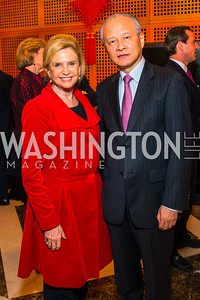 Congresswoman Carolyn Maloney, Chinese Ambassador to the United States Cui Tiankai. Photo by Alfredo Flores. Chinese Lunar New Year Celebration. Embassy of the People's Republic of China. February 2, 2017