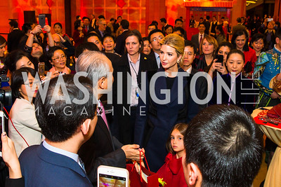 Chinese Ambassador to the United States Cui Tiankai, Ivanka Trump. Photo by Alfredo Flores. Chinese Lunar New Year Celebration. Embassy of the People's Republic of China. February 2, 2017