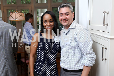Joie Ashworth, Bart Chamberlin. Photo by Tony Powell. Coldwell Banker Top Broker Reception. 1607 28th St NW. June 22, 2017