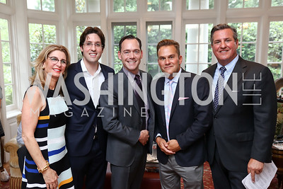 Jill Hertzberg, Alex Venditti, David Hertzberg, Duff Rubin, Rick Hoffman. Photo by Tony Powell. Coldwell Banker Top Broker Reception. 1607 28th St NW. June 22, 2017