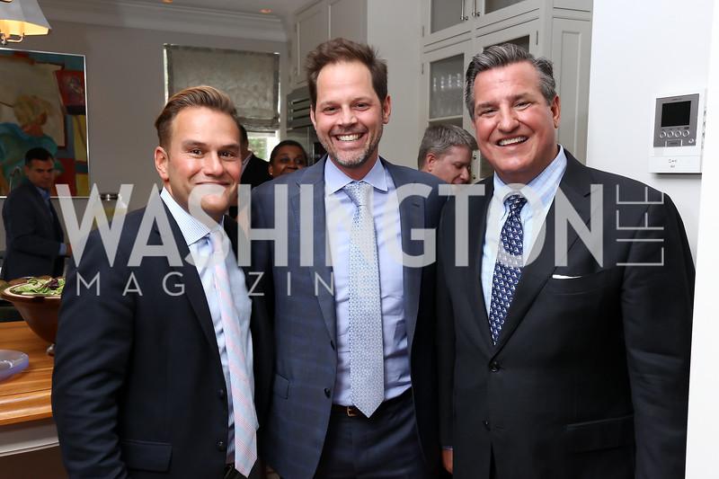 Duff Rubin, Randolph Adams, Rick Hoffman. Photo by Tony Powell. Coldwell Banker Top Broker Reception. 1607 28th St NW. June 22, 2017