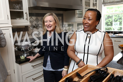 Monica Boyd, Toni Bighem. Photo by Tony Powell. Coldwell Banker Top Broker Reception. 1607 28th St NW. June 22, 2017