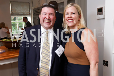 Allen Pierce, Marin Hagen. Photo by Tony Powell. Coldwell Banker Top Broker Reception. 1607 28th St NW. June 22, 2017