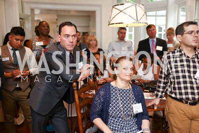 Host Alex Venditti. Photo by Tony Powell. Coldwell Banker Top Broker Reception. 1607 28th St NW. June 22, 2017