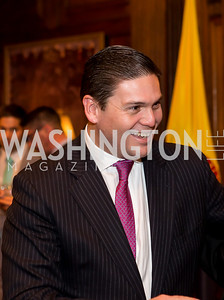 Colombia Amb. Juan Carlos Pinzón. Photo by Tony Powell. Colombian Embassy Conference of Mayors. January 18, 2017