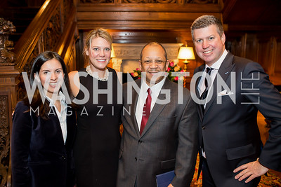 Angela Puentes, Thais Verlew, John Lopez, Bill Verlew. Photo by Tony Powell. Colombian Embassy Conference of Mayors. January 18, 2017