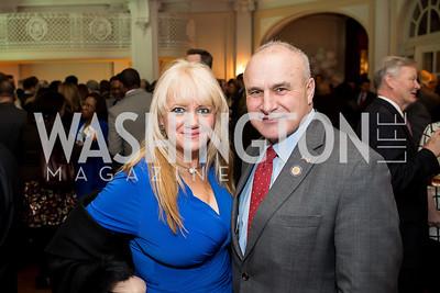 Dalia Valentine, Owen Henry. Photo by Tony Powell. Colombian Embassy Conference of Mayors. January 18, 2017
