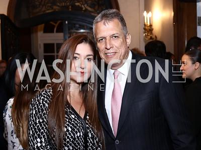 Lina Bustamante, Colombia Congressman German Blanco. Photo by Tony Powell. Colombian Embassy Conference of Mayors. January 18, 2017