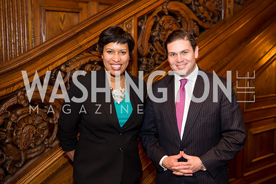 Mayor Muriel Bowser, Colombia Amb. Juan Carlos Pinzón. Photo by Tony Powell. Colombian Embassy Conference of Mayors. January 18, 2017