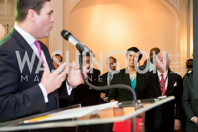 Colombia Amb. Juan Carlos Pinzón, Mayor Muriel Bowser. Photo by Tony Powell. Colombian Embassy Conference of Mayors. January 18, 2017