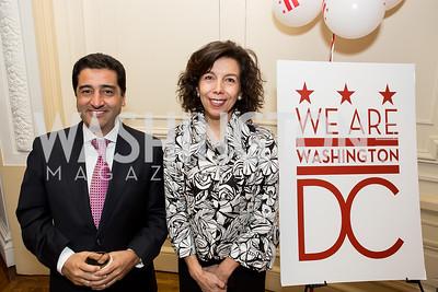 Andres Montoya, Adriana Peñalosa. Photo by Tony Powell. Colombian Embassy Conference of Mayors. January 18, 2017
