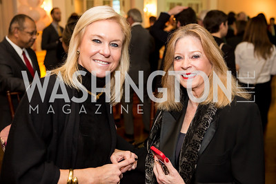 Julie Chase, Janet Donovan. Photo by Tony Powell. Colombian Embassy Conference of Mayors. January 18, 2017