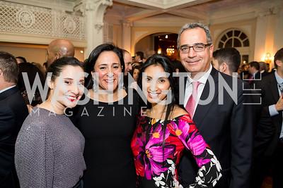 Catalina Talero, Susana Castillo Angela Franco, Alejandro Pardo. Photo by Tony Powell. Colombian Embassy Conference of Mayors. January 18, 2017