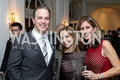 Matt Brady, Pilar O'Leary, Christine Brady. Photo by Tony Powell. Colombian Embassy Conference of Mayors. January 18, 2017