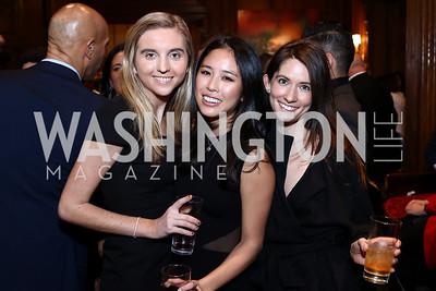 Marilise Cooney, Nicole Kim, Charlotte Yerkovich. Photo by Tony Powell. Colombian Embassy Conference of Mayors. January 18, 2017