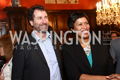 Warhorse CEO Scott Plank, Mayor Muriel Bowser. Photo by Tony Powell. Colombian Embassy Conference of Mayors. January 18, 2017