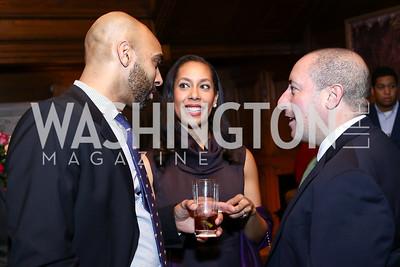 Jason Willock, Lindsey Ross, John Falcicchio. Photo by Tony Powell. Colombian Embassy Conference of Mayors. January 18, 2017
