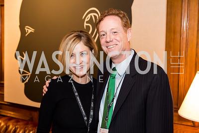 Leigh Macklin, Dave Macklin. Photo by Tony Powell. Colombian Embassy Conference of Mayors. January 18, 2017