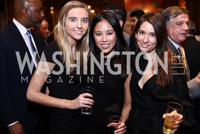 Marilise Cooney, Nicole Kim, Charlotte Yerkovich. Photo by Tony Powell. Colombian Embassy Conference of Mayors. January 18, 2017