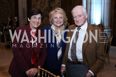 Susan Cole, Amb. Mary Mochary, James Symington. Photo by Tony Powell. 2017 Concert for Unity. National Cathedral. November 13, 2017