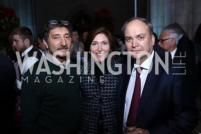 Salo Levinas, Randi Levinas, Russia Amb. Anatoly Antonov. Photo by Tony Powell. 2017 Concert for Unity. National Cathedral. November 13, 2017