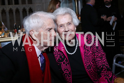 James and Marjorie Billington. Photo by Tony Powell. 2017 Concert for Unity. National Cathedral. November 13, 2017