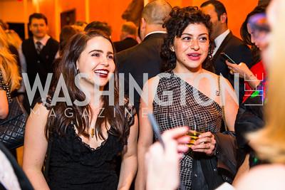 Mae Whitman, Alia Shawkat. Photo by Alfredo Flores. Creative Coalition Inaugural Ball. Harman Center for the Arts. January 20, 2017