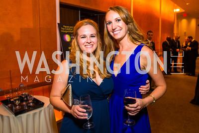 Samantha Nielsen, Justine Benkowski. Photo by Alfredo Flores. Creative Coalition Inaugural Ball. Harman Center for the Arts. January 20, 2017