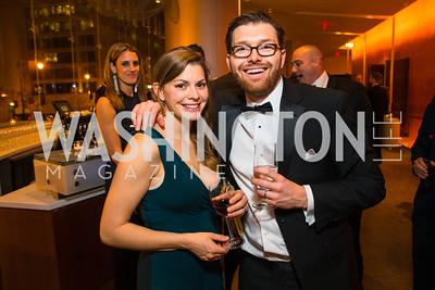 Julie Hawkins, Brad Hawkins. Photo by Alfredo Flores. Creative Coalition Inaugural Ball. Harman Center for the Arts. January 20, 2017