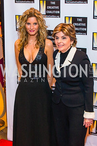 Summer Zervos, Gloria Allred. Photo by Alfredo Flores. Creative Coalition Inaugural Ball. Harman Center for the Arts. January 20, 2017