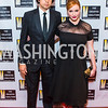 Geoffrey Arend, Christina Hendricks. Photo by Alfredo Flores. Creative Coalition Inaugural Ball. Harman Center for the Arts. January 20, 2017