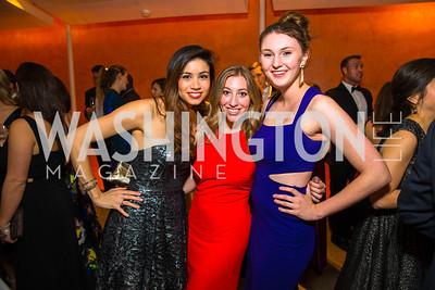 Sophia Maxstadt, Becca Faigen, Maddy Dunn. Photo by Alfredo Flores. Creative Coalition Inaugural Ball. Harman Center for the Arts. January 20, 2017