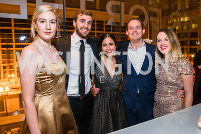 Kathleen dePorter, Jordan Forney, Gabby Bryant, Cody Dennis, Kelly McKenna. Photo by Alfredo Flores. Creative Coalition Inaugural Ball. Harman Center for the Arts. January 20, 2017