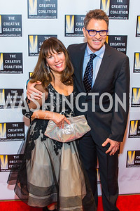 Robin Bronk, Tim Daly. Photo by Alfredo Flores. Creative Coalition Inaugural Ball. Harman Center for the Arts. January 20, 2017