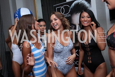 Cecilia Kelly, Jordan Shives, Candice Liang. Photo by Tony Powell. DC Swim Week 2017 Launch Party. St. Gregory. July 27, 2017