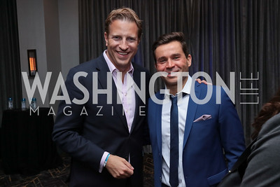 Mark Vlasic, Antonio Alves. Photo by Tony Powell. DC Swim Week 2017 Launch Party. St. Gregory. July 27, 2017