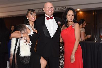 Silvia Beltran with Allen & Thuy Golombek. November 11, 2017. DC's Dancing Stars Gala. Amanda Warden.