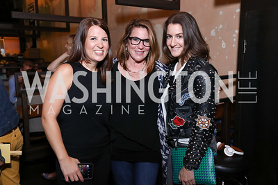 Christine Delargy, Kimball Stroud, Meredith Fineman. Photo by Tony Powell. Thanks, Obama Book Party. Comet Ping Pong. September 18, 2017