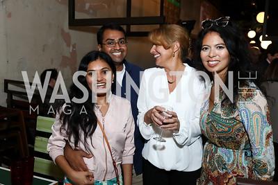 Sandhya Kotha, Polska Kanneth, Rebecca Cooper, Christina Sevilla. Photo by Tony Powell. Thanks, Obama Book Party. Comet Ping Pong. September 18, 2017