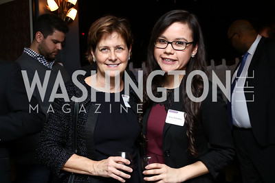Heather Sibbison, Rose Petoskey. Photo by Tony Powell. Dentons Inaugural Cocktail Party. The Source. January 19, 2017