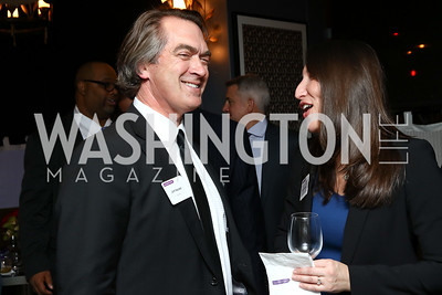Dentons Chairman Jeff Haidet, General Counsel Shari Klevens. Photo by Tony Powell. Dentons Inaugural Cocktail Party. The Source. January 19, 2017