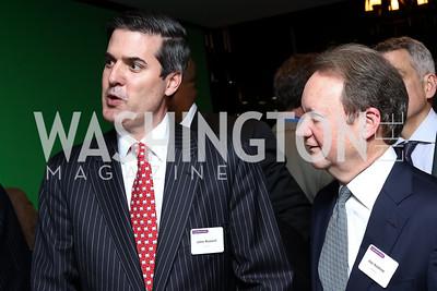 Dentons Principal John Russell, Dentons Global Chairman Joe Andrew. Photo by Tony Powell. Dentons Inaugural Cocktail Party. The Source. January 19, 2017