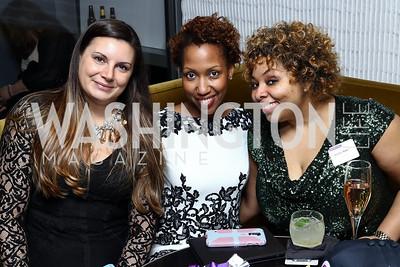 Susan De Leva, Toni Wells, Nikole Kolen. Photo by Tony Powell. Dentons Inaugural Cocktail Party. The Source. January 19, 2017
