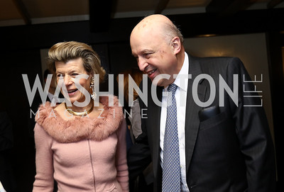 Diana and John Negroponte. Photo by Tony Powell. Emperor of Japan Birthday Celebration. Residence of Japan. December 12, 2017