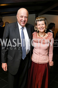 John and Diana Negroponte. Photo by Tony Powell. Emperor of Japan Birthday Celebration. Residence of Japan. December 12, 2017